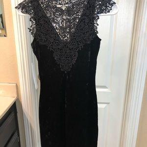 Lace/velvet dress